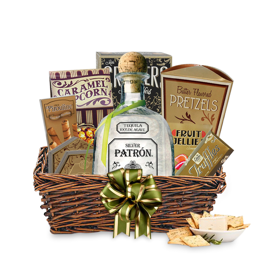 Buy patrn silver tequila gift basket online negle Image collections